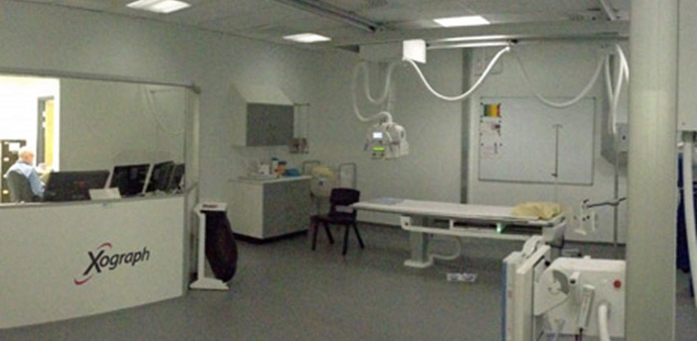 Veterinary X-ray room